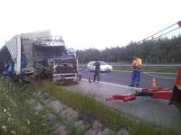 Beka Roadside Assistance -Turkish TIR crashed highway Trakia