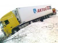 Beka Road Assistance-Truck-trailer ended up in driven snow