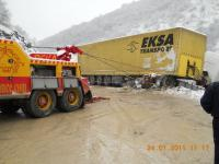 Beka Road Assistance - Truck stuck insnowdrifts.